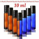 10 ml 1/3Oz Amber Cobalt Blue Glass Bottle Roll-On Aromatherapy Perfume Roller