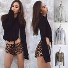 Women Lady Long Sleeve Tee Blouse Casual Hoodie Top T-Shirt Pullover 4 Colors