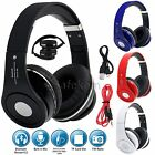 Foldable Wireless Bluetooth 4.2 Headset Stereo Headphone Built In Mic Call Radio