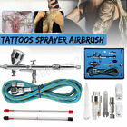 Airbrush Spray Gun Dual Action Air Brush Craft Tattoo Hose 0.2/0.3/0.5mm