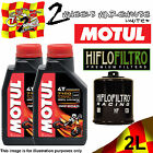 2L 7100 10W40 OFF ROAD OIL AND HF204RC YAMAHA YFM550 FG GRIZZLY FI AUTO 4X4 2009