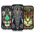 HEAD CASE DESIGNS AZTEC ANIMAL FACES 2 HYBRID CASE FOR SAMSUNG GALAXY S7 EDGE