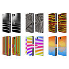 HEAD CASE DESIGNS DYNAMIC STRIPES LEATHER BOOK WALLET CASE FOR SONY XPERIA Z