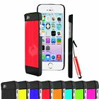 NEW DESIGN BRUSHED ALUMINIUM CASE COVER FOR IPHONE 5 5S+SCREEN PROTECTOR +STYLUS