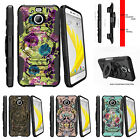 For HTC Bolt | HTC 10 Evo Clip Holster Stand Case Yellow Purple Flowers
