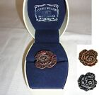 Lucky Brand ROSE Ruby Red or Sapphire Blue Cocktail Adjustable Ring size 6-8 NEW