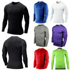 Mens Compression Thermal Gear Top Long Sleeve Tights Fitness Sports T-shirt Tops