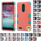 For ZTE Grand X Max 2 Kirk Zmax Pro Hybrid TUFF IMPACT Phone Case Hard Cover