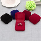 Fashion Velvet Engagement Wedding Ring Earring Pendant Jewelry Display Box Gifts
