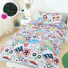 Glow In The Dark Scribble Skulls Quilt Cover Set by Happy Kids - SINGLE DOUBLE