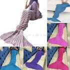 Mermaid Tail Sofa Blanket Super Soft Warm Hand Crocheted Knitting Wool For Adult