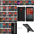For Nokia Lumia 1320 Hybrid Dual Layer Protective Case with Built-in Kickstand