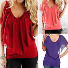 Women's Summer Chiffon Tee Top Ladies Short Sleeve Shirt Loose Casual Blouse New