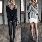Women Loose Long Sleeve Cardigan Knitted Sweater Jumper Outwear Coat N4U8