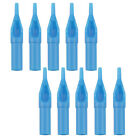 Blue 50Pc Plastic Sterile Disposable Tattoo Nozzle Tips Needle Tube Ink Supplies