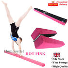 HOT Pink Suede 7ft Gymnastics Folding Balance Beam 2.1M Home Gym Training Sports