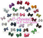 "U-Choose LG 4"" Bow 1-Prong Clip SOLID COLORS Wear in Hair - Match Squeakys SALE!"
