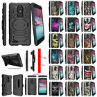 For ZTE Z MAX PRO Z981 Durable Holster Clip Protective Case Built-in Kickstand