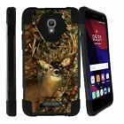 For Alcatel Fierce 4 Hybrid Dual Layer Shell Shock Case with Built-in Kickstand