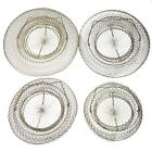 1 x Foldable Round Steel Wire Basket Fish Lobster Crab Prawn Cage Creel