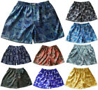 Mens Thai Silk Paisley Patterned Loose Boxer Shorts 1 Pair Underwear M L XL 2XL