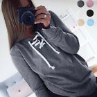 New Women Long Sleeve Pollover Sweater Jumpers Lace-up Tops Blouse Loose T-shirt
