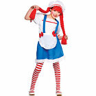 Little Rag Doll Costume For Girls Fancy Dress Play Party Halloween Kids Outfit