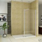 L Shape 1950 Wet Room Shower Enclosure 30 Tray Walk In 8mm Glass Cubicle FA56