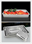 "Stainless Steel Food Plate Tray Rectangular Depth 0.78"" 2cm Safe Kitchen Hot 1pc"