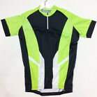 2017 Poly Short Zip Short SLEEVE Cycling JERSEY with No logo (Green) by GSG
