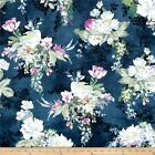 SERAFINA FLORAL FLOWERS MIDNITE MICHAEL MILLLER QUILT SEWING FABRIC Free Oz Post