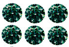 3.65 ct 6 pcs/5.60 mm WHITE GREEN ROUND COLOR LOOSE REAL MOISSANITE for ring