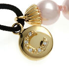 Sterling Essentials Gold Plated Silver and Pink Pearl Initial Friendship Bracele