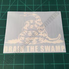 Don't Tread On Me Gadsden Flag DRAIN THE SWAMP Liberty Or Death 2A Decal Sticker