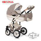RIKO BRANO ECCO PRAM 3in1  CARRYCOT + PUSH CHAIR + CAR SEAT+EXTRAS <br/> Rain cover+Large diaper bag+Hands warmer+Mosquito net