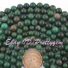 6mm 8mm 10mm Natural Smooth Round Green Africa Jade Gemstone Spacer Beads 15""