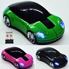 5 Color USB Wireless Light Up Optical Car Shaped Mouse for Computer  Notebook DZ