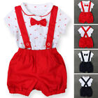 Fashion Baby Kids Short Sleeve Shirt Tops+ Pants Overalls Outfits Clothes Set AU