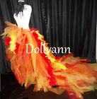 Peacock Phoenix Feather Tutu Bustle Drag Queen Costume Burlesque performer