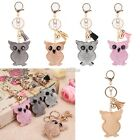 Pendant Rhinestone key chain owl car key accessories tassel bag accessories S0BZ