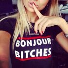 Women Short sleeve Fashion Casual Sport Blouse T-shirt Tops Letter O-neck Summer