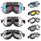 Motorcycle Goggles Motorbike Flying Scooter Aviator Helmet Glasses Anti Dust UV