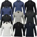Mens Cardigan Threadbare Knitted Sweater Jumper Top Funnel Neck Cotton Winter