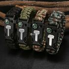 Survival Outdoor Buckle Rope Paracord Bracelet Camping Shackle Steel Hiking New@