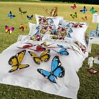 100% New Cotton Quilt/Doona Cover Set 3D Bulterfly Double/Queen Size Pillowcases