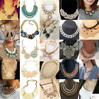 Charm Crystal Choker Chunky Statement Bib Necklace Jewelry Chain Pendant