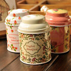 Flower Design Metal Sugar Coffee Tea Jar Container Candy Sealed Cans Box ZXX