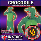 "FANCY DRESS COSTUME # ADULT ALL IN ONE CROCODILE COSTUME 38""-44"""