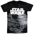 Star Wars Huge Death Star Print Black Men's T-Shirt New $10.19 USD