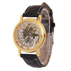 Fashion Automatic Roman Steampunk Gear Leather Band Mens Dress Mechanical Watch image